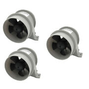 3pcs 12v 4a In-line Blower Boat Quiet Bilge Blower Water Resistant White