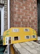 Lundby 1970s Vintage Stockholm Dollhouse Yellow Extension Front Cover Rare