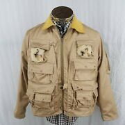 Vtg 60s Ideal Fly Fishing Utility Jacket 1912 Mens M 38-40 Wool Usa Made Nice