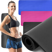 0.6in Thick Yoga Exercise Mat Anti-slip Fitness Mat For Pilates Workout Cushion