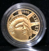 1986-w Gem Bu Proof Statue Liberty Gold Coin--bullion Value--stunning And Flawless