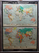 History Poster Rollable Map Mural Wallchart The World In The 19th Century
