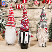 Christmas Wine Bottle Cover Adorable Table Ornament Home Decor Party Santa Gift