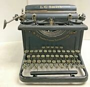 L. C. Smith And Corona 8-11 Manual Typewriter- Lc Smith 1920-1940's Antique.
