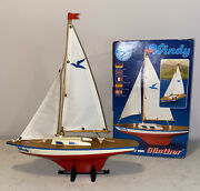 Seifert Segelboote Vintage Wooden Sailboat Windy 1981 Made In Germany With Box