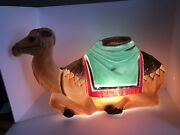 Vintage Empire Camel Christmas Nativity Plastic Lighted Blow Mold Outdoor Animal