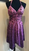 Pink And Purple Ombre Silk Guess Halter Top Dress Size 3
