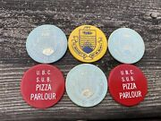 Food Tokens Lot Of 6 Ubc University Vancouver Bc Canada Circa 1970andrsquos Pit / Sub