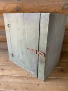 Antique Vintage Wood Wooden Wall Cabinet Cupboard