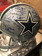 Dallas Cowboys All Time Greats Autographed Authentic Pro Helmet With Psa Loa