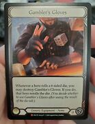 Flesh And Blood Gamblerand039s Gloves 1st Edition Majestic Cold Foil Crucible Of War