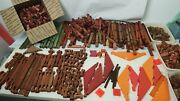 Halsam American Logs And Lincoln Made Usa 700+ Pieces Square Round Assort Colors