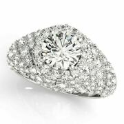 Valentine Gift 2.10 Ct Real Diamond Wedding Ring Solid 14k White Gold Size 7 8 6