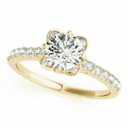 Solid 14k Yellow Gold 0.70 Ct Round Diamond Wedding Engagement Ring Size 5 6 7 8