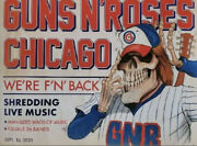 Guns And Roses Official Lithograph From Wrigley Field Chicago 09/16/21 344/500