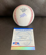 Jasson Dominguez Signed Official 2021 All Star Futures Game Baseball Psa/dna Coa