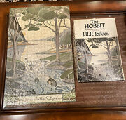 Vtg The Hobbit Two Sided 500+ Piece Rare Jigsaw Puzzle J.r.r. Tolkien Complete