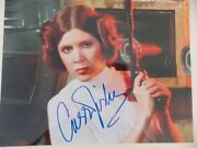 Carrie Fisher Princess Leia Signed 8 X 10 Photo