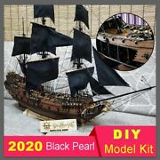 Diy Black Pearl Ship Sailing Model Sets Solid Wood Puzzle Hands-on Assembly Toy
