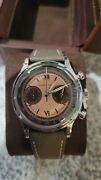 Furlan Marri Chronograph Havana Salmon Watch 38mm 1031-a Sold Out Discontinued