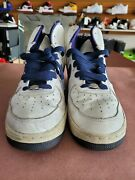 Vintage 2002 Nike Air Force 1 High Menandrsquos Size 11 20th Anniversary 624038-142