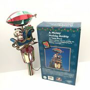 Mr. Christmas A Mickey Holiday Airship Lighted Automated Tree Topper Centerpiece