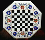 Hand Crafted Stone Coffee Table Top Marble Game Table For Kids Room 15 Inches