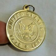 14k Yellow Gold 1776 - 1976 United States Seal Eagle Charm Or Pendant