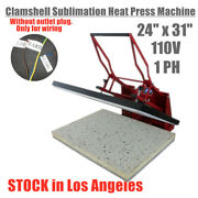 Us Stock 24 X 31 Clamshell Manual Sublimation Heat Press Machine For T-shirts