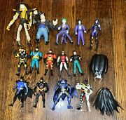 Vintage Batman Animated Series Kenner 1990s Action Figure Lot Of 14