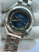 Vintage Zenith Defy Watch Diver Automatic Gay Freres Mens 37x44mm Just Serviced