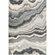 Orian Mystical Cascade Taupe Inkwell 9and039 X 13and039 Area Rugs 7010