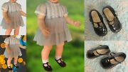 Ideal Penny Doll Dress,slip, Panty, Black Shoes No Doll Included