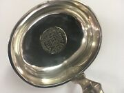 Antique 1848 Imperial Russian 84 Silver Lg 13andrdquo Ladle Embedded 1816 Spanish Coin