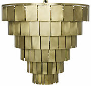 Noir Shield Chandelier With Antique Brass Lamp610mb