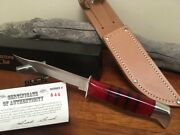 Buck Knife 105 - Vintage Lucite Repro 1940s Bcci 10th Aniv 1 Of 200 Rare