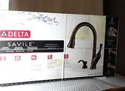 New Delta Savile Faucet Pull Down Kitchen 19949z-rbsd-dst Bronze 998