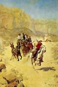Saving The Mail By Charles Schreyvogel Western Art + Ships Free