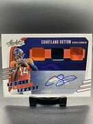 2020 Panini Absolute Tools Of The Trade Auto Relics 28/49 Courtland Sutton