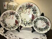 4 Place Settings Lenox Winter Greetings - 4 Pieces Each - Nwt - Quality China