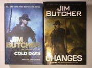 2 Jim Butcher Books - Dresden Files - Cold Days And Changes, Lot Of 2 Hb/dc