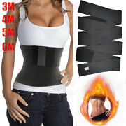 Elastic Band Tummy Wrap For Weight Loss Flat Belly Stomach Belt Waist Trainer P