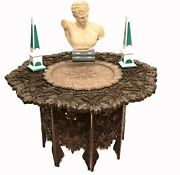 Goanese Side Table - Antique Carved Portugese Goan Furniture