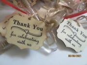 30 Rustic Wedding Bubble Wands Favor Wood Rope Thank You For Celebrating With Us