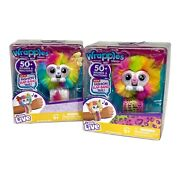 Little Live Pets Wrapples Raybo And Meggo Furry Best Friend Slap Band Tails Sounds
