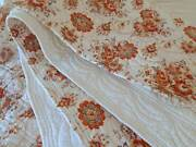 Vintage Quilt / French Boutis Provencal Traditional Cotton Print Large Size Fab