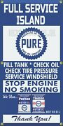 Pure Oil Gas Station Pumps Full Service Island Old Sign Remake Banner Art Mural