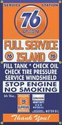 Union 76 Gas Station Pumps Full Service Island Old Sign Remake Banner Art Mural