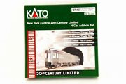 Kato N-scale 10764-2 New York Central 20th Century Limited 4 Car Add-on Set
