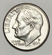 1999 D Roosevelt Dime 10 Cents Double Die Obverse Error Circulated Coin 4190